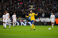 Gonzalo Higuain of Juventus celebrates scoring his side's equalising goal to make the score 1-1 <br /> <br /> Photographer Craig Mercer/CameraSport<br /> <br /> UEFA Champions League Round of 16 Second Leg - Tottenham Hotspur v Juventus - Wednesday 7th March 2018 - Wembley Stadium - London <br />  <br /> World Copyright &copy; 2017 CameraSport. All rights reserved. 43 Linden Ave. Countesthorpe. Leicester. England. LE8 5PG - Tel: +44 (0) 116 277 4147 - admin@camerasport.com - www.camerasport.com