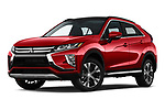 Stock pictures of low aggressive front three quarter view of a 2019 Mitsubishi Eclipse-Cross SEL 5 Door SUV