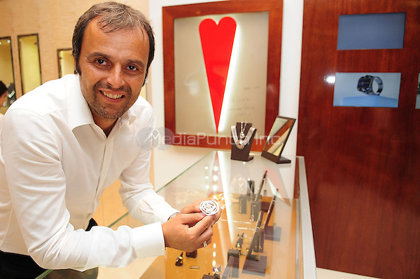 AVENTURA, FL - AUGUST 24: Jewelry designer Franco Pianegonda make a rare appearance to preview his fall 2011 Collection at Franco Pianegonda Boutique Aventura Mall on August 24, 2011 in Aventura, Florida. (photo by: MPI10/MediaPunch Inc.)