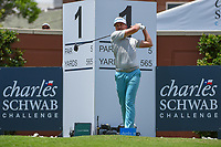 Ian Poulter (GBR) watches his tee shot on 1 during round 1 of the 2019 Charles Schwab Challenge, Colonial Country Club, Ft. Worth, Texas,  USA. 5/23/2019.<br /> Picture: Golffile | Ken Murray<br /> <br /> All photo usage must carry mandatory copyright credit (© Golffile | Ken Murray)
