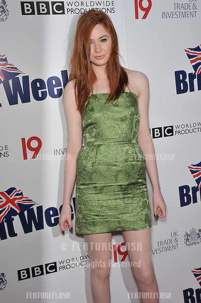 Dr Who star Karen Gillan at the champagne launch party for BritWeek 2010 at the British Consul-General's residence in Los Angeles..April 20, 2010  Los Angeles, CA.Picture: Paul Smith / Featureflash