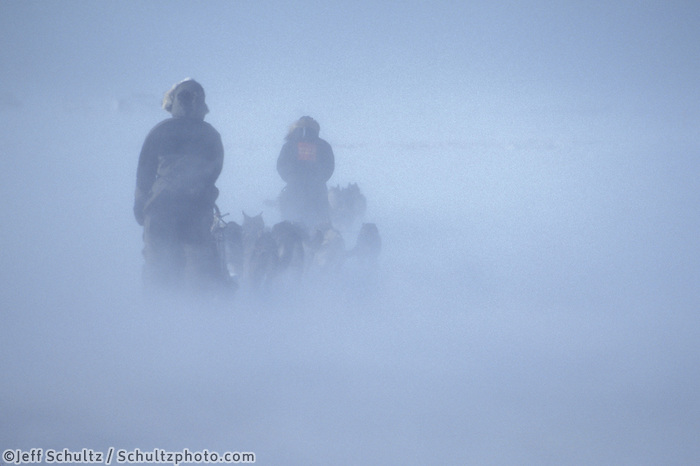 V.Halter & J.Little Arriving in Windstorm to Unalakleet