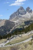 25th May 2017, Moena, Trentino Italy; Giro D Italia; stage 18 Moena to Ortisei; The Peleton passes through the Passo Pordoi