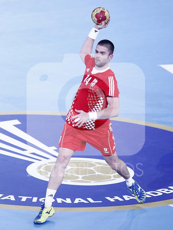 Croatia's Drago Vukovic during 23rd Men's Handball World Championship preliminary round match.January 12 ,2013. (ALTERPHOTOS/Acero)