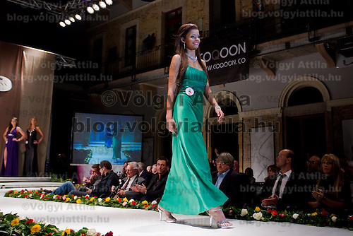 Kinga Kovacs attends the Miss Hungary 2010 beauty contest held in Budapest, Hungary on November 29, 2010. ATTILA VOLGYI