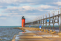 64795-02608 South Haven Lighthouse early morning South Haven,  MI
