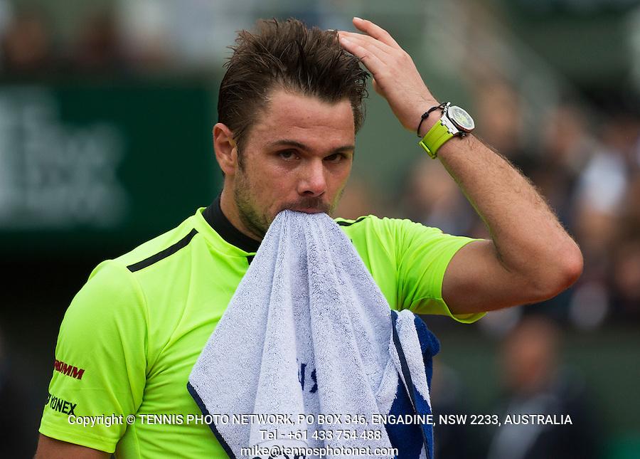 STAN WAWRINKA (SUI)<br /> <br /> TENNIS - FRENCH OPEN - ROLAND GARROS - ATP - WTA - ITF - GRAND SLAM - CHAMPIONSHIPS - PARIS - FRANCE - 2016  <br /> <br /> <br /> <br /> &copy; TENNIS PHOTO NETWORK
