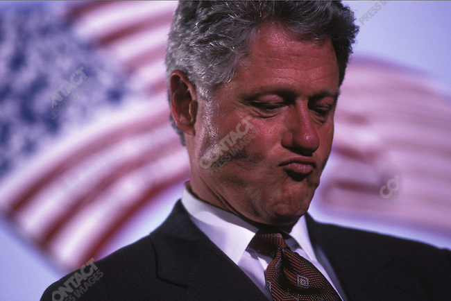 President Bill Clinton on his re-election campaign. Union, New Jersey, November 1996.