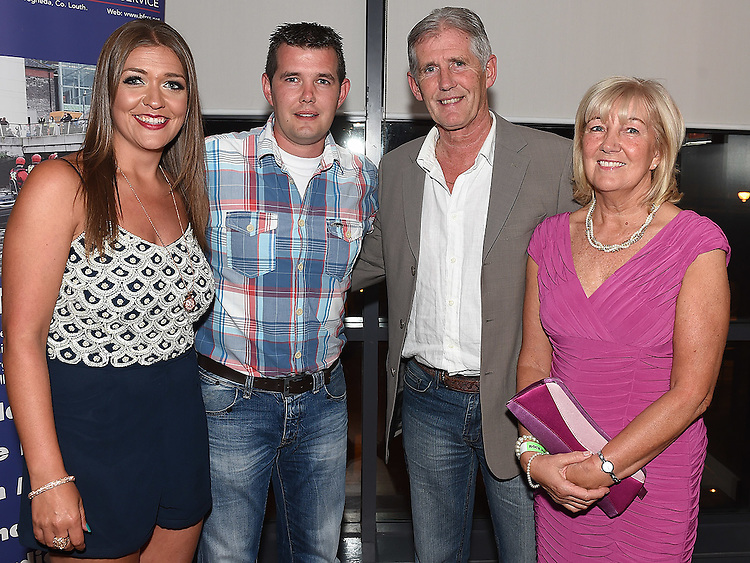 Wayne Hurley celebrating his 30th birthday in Brú with parents Francis and Bernadette and girlfriend Susan Corr.  Photo:Colin Bell/pressphotos.ie