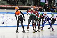 SHORT TRACK: TORINO: 15-01-2017, Palavela, ISU European Short Track Speed Skating Championships, Semifinals 1000m Men, Sjinkie Knegt (NED), Shaoang Liu (HUN), ©photo Martin de Jong