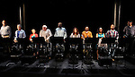 Bruce Kronenberg, Chris Sarandon, Amelia Campbell,Brian Dennehy, Delroy Lindo, Stockard Channing, JD Williams, April Yvette Thompson & Curtis McClarin during the Curtain Call for the 10th Anniversary Production of 'The Exonerated' at the Culture Project in New York City on 9/19/2012.