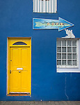County Kerry, Ireland:<br /> Colorful village door & storefront of Dingle on the Ring of Kerry, Dingle peninsula