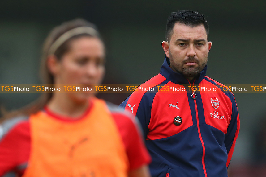 Arsenal manager Pedro Martinez Losa looks on during Arsenal Ladies vs Doncaster Rovers Belles, FA Women's Super League FA WSL1 Football at Meadow Park on 30th October 2016