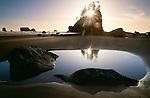 Sunset, Second Beach, Olympic National Park, Washington