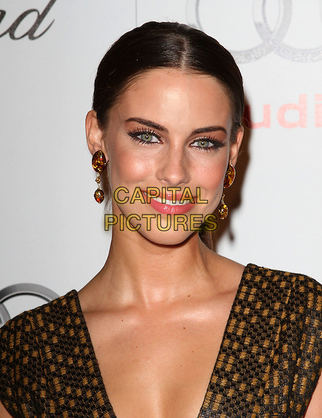 JESSICA LOWNDES .Audi hosts a cocktail party to kick-off Emmy week held at Ciccone's, West Hollywood, CA, USA..August 22nd, 2010.headshot portrait earrings smiling make-up beauty brown yellow print pattern orange  .CAP/ADM/FS.©Faye Sadou/AdMedia/Capital Pictures.