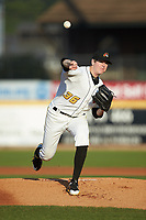 West Virginia Power starting pitcher Gavin Wallace (36) delivers a pitch to the plate against the Lexington Legends at Appalachian Power Park on June 7, 2018 in Charleston, West Virginia. The Power defeated the Legends 5-1. (Brian Westerholt/Four Seam Images)