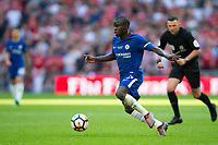 Chelsea's Ngolo Kante in action <br /> <br /> Photographer Craig Mercer/CameraSport<br /> <br /> Emirates FA Cup Final - Chelsea v Manchester United - Saturday 19th May 2018 - Wembley Stadium - London<br />  <br /> World Copyright &copy; 2018 CameraSport. All rights reserved. 43 Linden Ave. Countesthorpe. Leicester. England. LE8 5PG - Tel: +44 (0) 116 277 4147 - admin@camerasport.com - www.camerasport.com