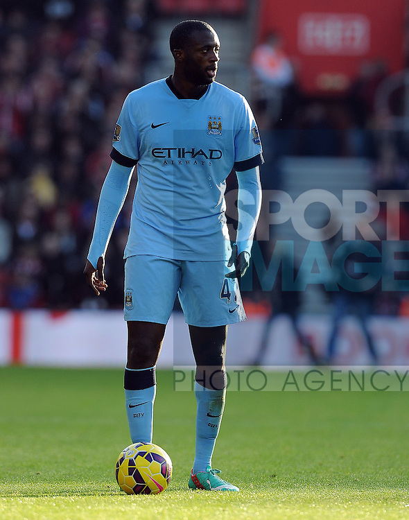 Yaya Toure of Manchester City<br /> - Barclays Premier League - Southampton vs Manchester City - St Mary's Stadium - Southampton - England - 30th November 2014 - Pic Robin Parker/Sportimage