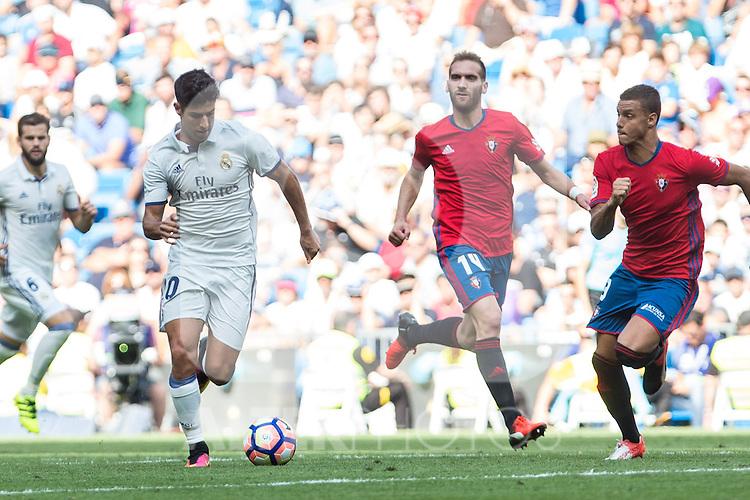 Real Madrid's during the match of La Liga between Real Madrid and Club Atletico Osasuna at Santiago Bernabeu Estadium in Madrid. September 10, 2016. (ALTERPHOTOS/Rodrigo Jimenez)