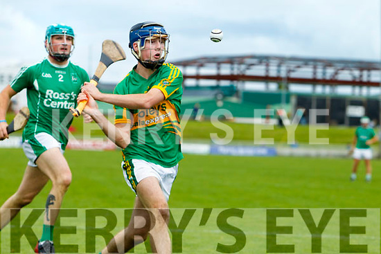 Ally O'Connor Ballyduff in action against Shane Conway Lixnaw in the Senior County Hurling Final in Austin Stack Park on Sunday