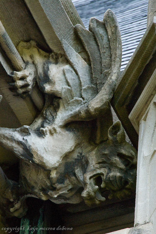 Biltmore Estate stone carving and gargoyle