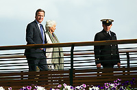 Former British Prime Minister David Cameron leaving Centre Court after Day 10<br /> <br /> Photographer Ashley Western/CameraSport<br /> <br /> Wimbledon Lawn Tennis Championships - Day 10 - Thursday 13th July 2017 -  All England Lawn Tennis and Croquet Club - Wimbledon - London - England<br /> <br /> World Copyright &not;&copy; 2017 CameraSport. All rights reserved. 43 Linden Ave. Countesthorpe. Leicester. England. LE8 5PG - Tel: +44 (0) 116 277 4147 - admin@camerasport.com - www.camerasport.com