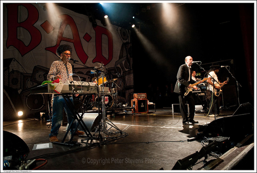 Don Letts, Mick Jones, Dan Donovan, Leo 'E-Zee Kill' Williams -<br /> <br /> Big Audio Dynamite perform at the Shepherds Bush Empire on the 2nd April 2011