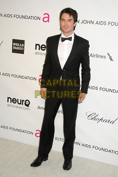 Ian Somerhalder.21st Annual Elton John Academy Awards Viewing Party held at West Hollywood Park, West Hollywood, California, USA..February 24th, 2013.oscars full length tuxedo black white bow tie  shirt.CAP/ADM/BP.©Byron Purvis/AdMedia/Capital Pictures.