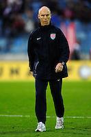 Head Coach Bob Bradley. Slovakia defeated the US Men's National Team 1-0 at the Tehelne Pole in Bratislava, Slovakia on November 14th, 2009.