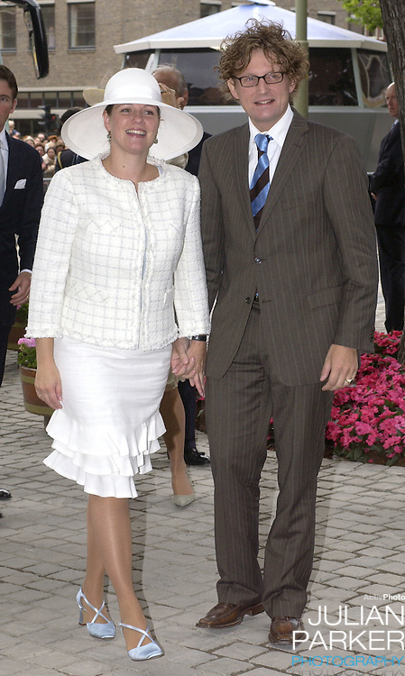 Prince Bernhard Jr. & Princess Annette attend the Christening of Crown Prince Willem-Alexander & Crown Princess Maxima of Holland's daughter Catharina-Amalia at the St. Jacobskerk Church in The Hague..