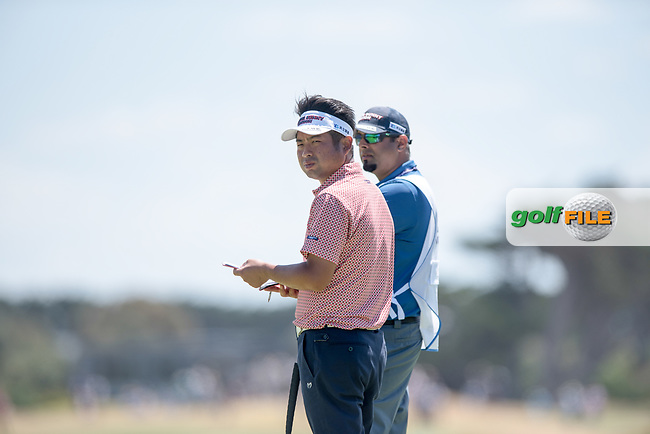 Yuta Ileda (JPN) during the 2nd round of the VIC Open, 13th Beech, Barwon Heads, Victoria, Australia. 08/02/2019.<br /> Picture Anthony Powter / Golffile.ie<br /> <br /> All photo usage must carry mandatory copyright credit (&copy; Golffile | Anthony Powter)