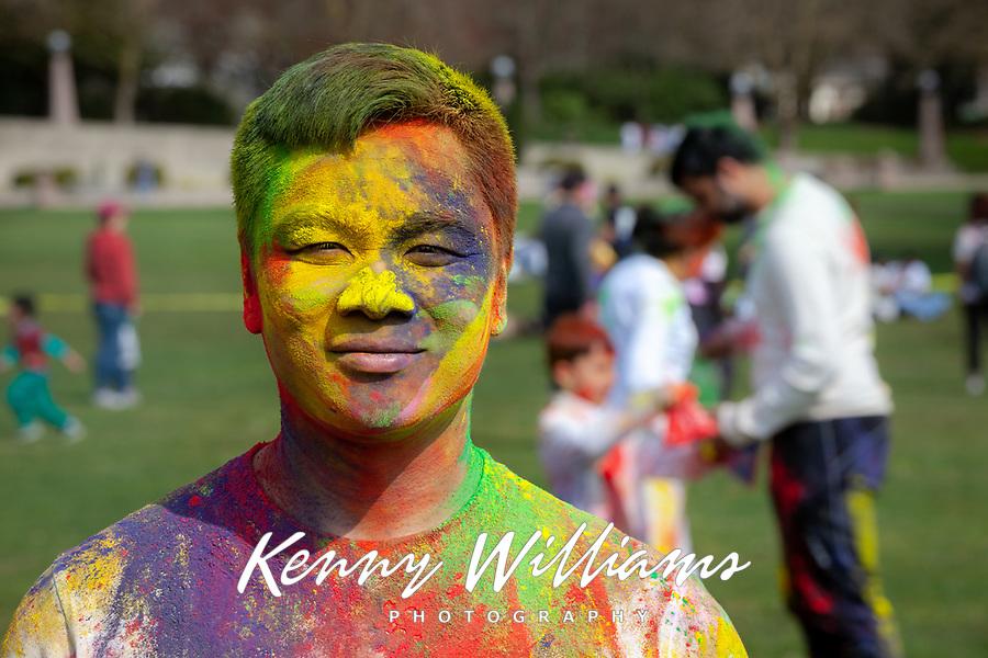 Simon Chiu, Holi Festival of Colors, Downtown Park, Bellevue, WA, USA.