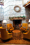 California: Ritz-Carlton at Northstar at Lake Tahoe.  Decor of wood and stone.   Photo copyright Lee Foster.  Photo # cataho100301