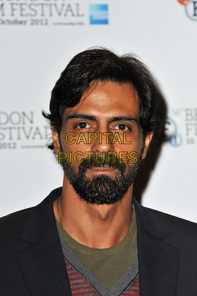 Arjun Rampal.'Chakravyuh' photocall and press conference, part of 56th BFI London Film Festival, The Empire Cinema, London, England..October 11th, 2012.headshot portrait beard facial hair .CAP/BF.©Bob Fidgeon/Capital Pictures.