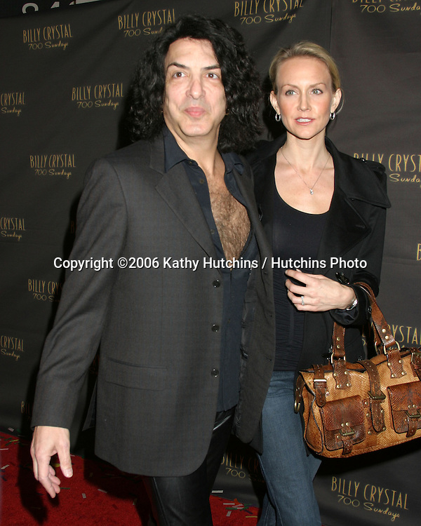 Paul Stanley and date.Wilshire Theater.700 Sundays LA Play Opening.Los Angeles, CA.January 12, 2006.©2006 Kathy Hutchins / Hutchins Photo....
