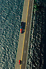 Aerial view of lake superior, mackinaw bridge, michigan