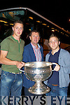 Glenbeigh heroes Darran O'Sullivan and Aidan O'Shea arrive with Sam and Jack O'Connor into Glenbeigh Tuesday night