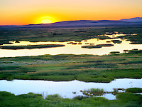 Buena Vista Ponds at Sunrise. Malhuer National Wildlife refuge. Oregon