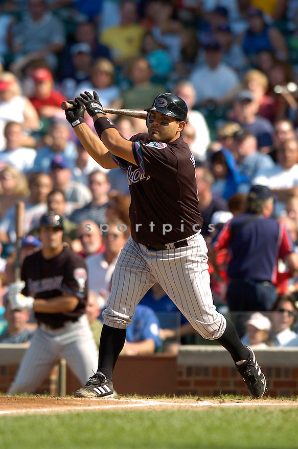 Johnny Estrada, of the Arizona Diamonbacks, in action against the Chicago Cubs on August 3, 2006 in Chicago...Dbacks win 10-2..David Durochik / SportPics