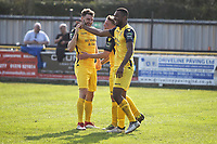 Christian Assombalonga scores and celebratesduring Witham Town vs AFC Hornchurch, Bostik League Division 1 North Football at Spa Road on 14th April 2018