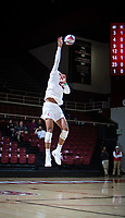 STANFORD, CA - January 5, 2019: Jaylen Jasper at Maples Pavilion. The Stanford Cardinal defeated UC Santa Cruz 25-11, 25-17, 25-15.