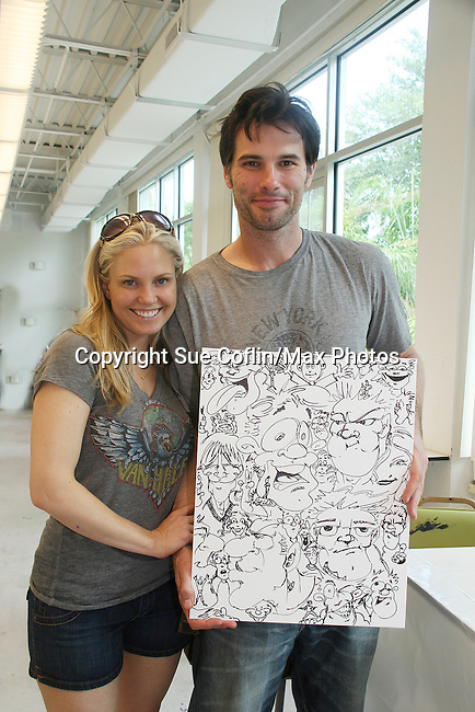 As The World Turns' Terri Colombino & Austin Peck donate their time at the 12th Annual SoapFest - Painting Party to benefit Marco Island YMCA, theatre program & Art League of Marco Island on May 15, 20010 on Marco Island, FLA. (Photo by Sue Coflin/Max Photos)
