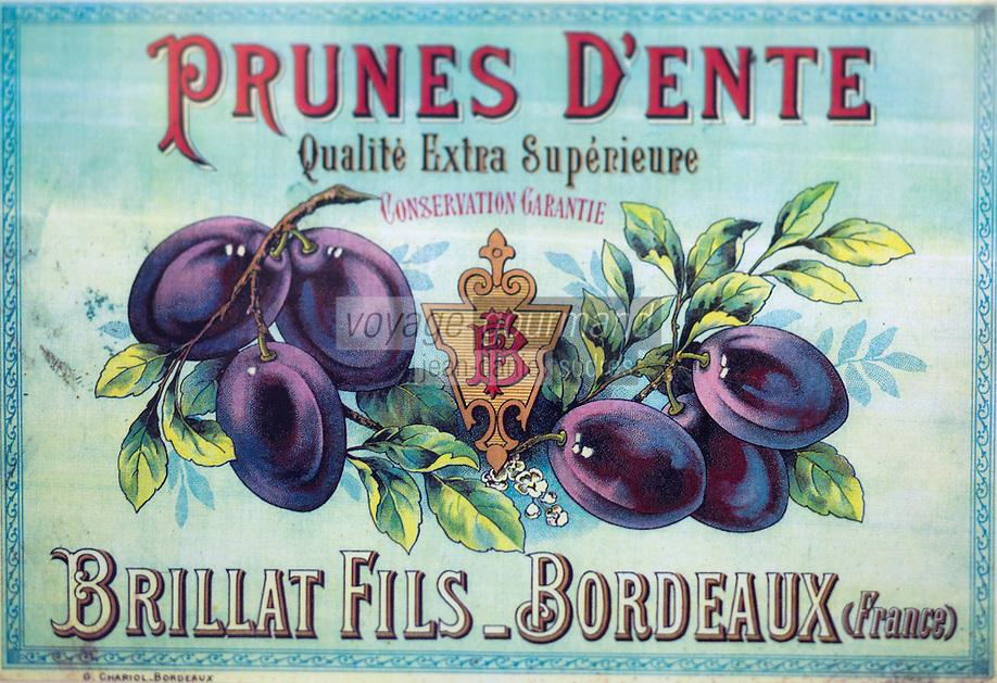 Europe/France/Aquitaine/47/Lot-et-Garonne/Granges-sur-Lot : Musée du Pruneau _ Anciennes Boites de Pruneaux