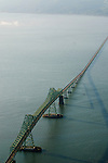 Aerial View of the Astoria-Megler Bridge, Astoria, Oregon
