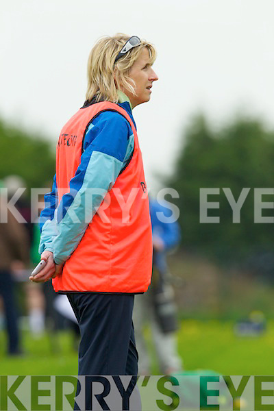 Manager of  Colaiste na Sceilge, Caherciveen, Gillian O'Connor who's team played St. Leo's College, Carlow in the All Ireland Ladies Post Primary School Finali held last Saturday in Croagh.