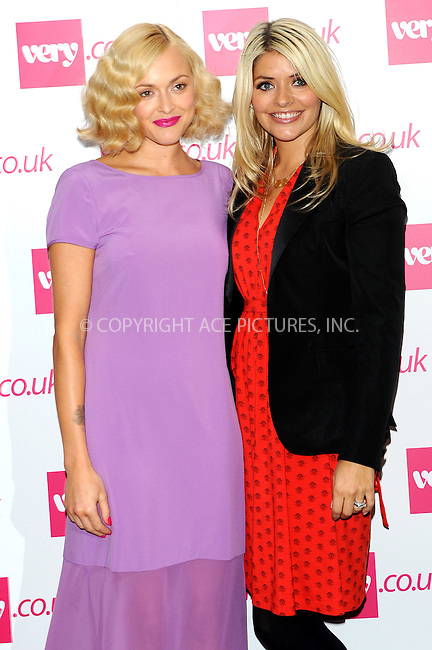 WWW.ACEPIXS.COM . . . . .  ..... . . . . US SALES ONLY . . . . .....September 20 2011, London....Fearne Cotton and Holly Willoughby at the Very.co.uk show during London Fashion Week on September 20 2011 in London....Please byline: FAMOUS-ACE PICTURES... . . . .  ....Ace Pictures, Inc:  ..Tel: (212) 243-8787..e-mail: info@acepixs.com..web: http://www.acepixs.com