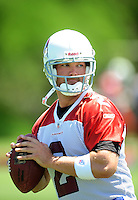 Jun 9, 2008; Tempe, AZ, USA; Arizona Cardinals quarterback (2) Brian St. Pierre during mini camp at the Cardinals practice facility. Mandatory Credit: Mark J. Rebilas-