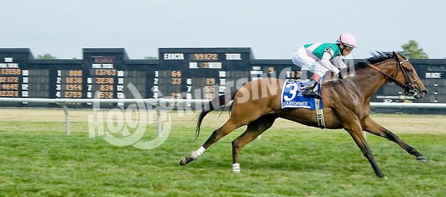 Starformer winning The Robert G. Dick Memorial Stakes (gr 3) at Delaware Park on 7/14/12