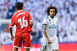Marcelo da Silva of Real Madrid (R) fights for position with Clement Lenglet of Sevilla FC (L) during La Liga 2017-18 match between Real Madrid and Sevilla FC at Santiago Bernabeu Stadium on 09 December 2017 in Madrid, Spain. Photo by Diego Souto / Power Sport Images