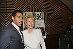 """One Life To Live's Corbin Bleu """"Jeffrey King"""" poses with Erika Slezak """"Victoria Lord"""" as """"Jeffrey works for """"Viki"""" at the Banner at New York Premiere Event for beloved series """"One Life To Live"""" on April 23, 2013 at NYU Skirball, New York City, New York - as The Online Network (TOLN) - OLTL - AMC begin airing on April 29, 2013 on Hulu and Hulu Plus.  (Photo by Sue Coflin/Max Photos)"""